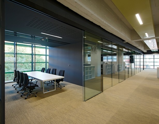 Extendo telescopic glass doors for Office front door design